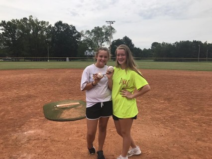 Pictured are Brea and Jewlia McClanahan who are both diagnosed with PKD and G1 Impact Academy was honored to have them throw the first pitch. #usssastrikeoutpkd